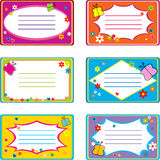 Colored visit cards Royalty Free Stock Photography