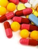 Colored Vitamin Pills Stock Image
