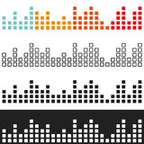 Colored volume graphic equalizer Royalty Free Stock Images