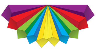 Colored volumetric arrows Royalty Free Stock Photography