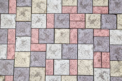 Colored walking tile pavement Royalty Free Stock Images