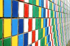 Colored wall Stock Image