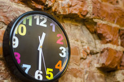 The colored wall clock Royalty Free Stock Photos
