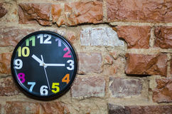 The colored wall clock Stock Image