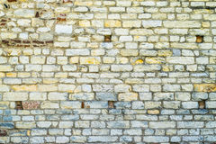 Colored wall made of stone and brick Stock Photography