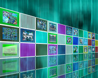 Colored wall Royalty Free Stock Images