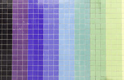 Colored wall tiles Royalty Free Stock Image