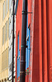 Colored walls. In Basel town hall, Switzerland Royalty Free Stock Photo