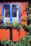 Colored walls and windows Royalty Free Stock Photo