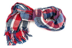 Colored warm scarf Stock Photos