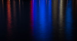 Colored water background from city lights Royalty Free Stock Image