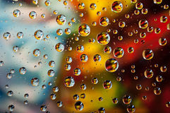 Colored water drops Royalty Free Stock Photography