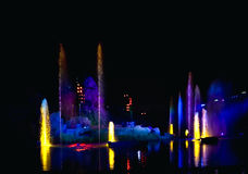 Colored Water Fountain Stock Image