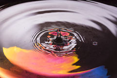 Colored water and water drop splash Royalty Free Stock Image