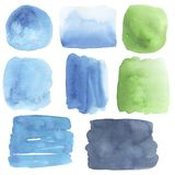 Colored watercolor stains. Watercolor background stock illustration