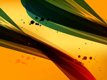 Colored waved lines Stock Photos