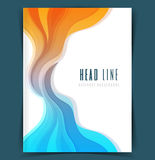 Colored waves design template Stock Image