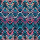Colored wavy stripes pattern. Horizontal curvy lines. Illustration. Royalty Free Stock Photo