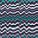 Colored wavy stripes pattern. Horizontal curvy lines. Illustration. Royalty Free Stock Photography