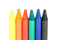 Colored wax crayons Stock Photo