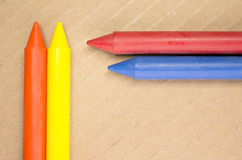 colored wax crayons Stock Photography