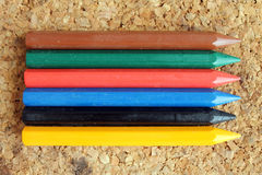 Colored wax pencils Royalty Free Stock Photo