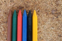 Colored wax pencils Royalty Free Stock Image