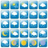 Colored Weather icons set-Vector Illustration Stock Photo