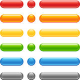 Colored Web Button Set. For web design Royalty Free Stock Photography