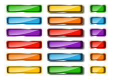 Colored web button set Royalty Free Stock Photos