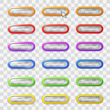 Colored Web Buttons Royalty Free Stock Photo