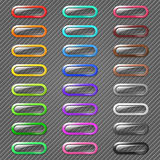Colored Web Buttons Royalty Free Stock Photography