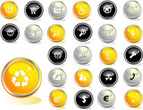 Colored web buttons Stock Image