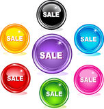 Colored web buttons, sale Stock Photography