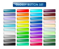 Colored web buttons set Stock Images