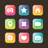 Colored web icon set Stock Images
