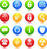 Colored Web Icons. Colored Icon Set for Web stock illustration