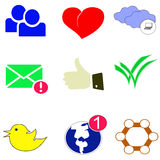 Colored web icons Royalty Free Stock Image