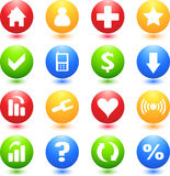 Colored Web Sign Icons. Colored Sign Icon Set for Web Sites stock illustration