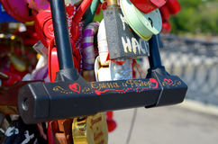 Colored wedding locks Stock Image