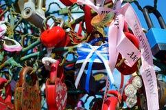 Colored wedding locks Royalty Free Stock Photography