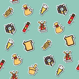 Colored Wheat concept icons pattern Royalty Free Stock Photos