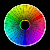 Colored wheel. Multi-colored wheel on the black background Royalty Free Illustration