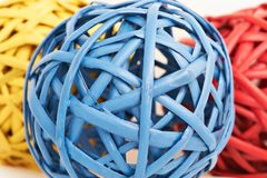 Colored wicker balls Stock Photography