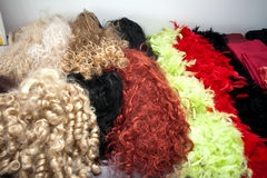 Colored wigs Royalty Free Stock Photos