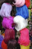 Colored Wigs Stock Image
