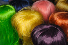 Colored wigs Royalty Free Stock Photography