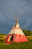 Colored wigwam. Colored National wigwam of American Indians. Outdoor photography Royalty Free Stock Photos