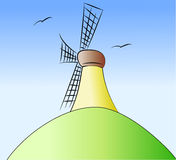 Colored windmill Stock Images