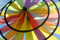 Colored windmill outdoors Royalty Free Stock Images